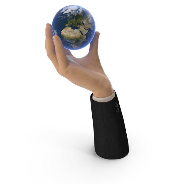 Suit Hand Holding Earth
