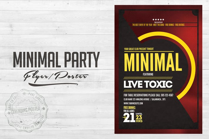 Thumbnail for Minimal Party Flyer Poster