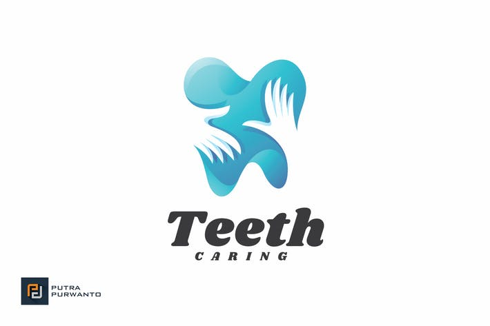 Thumbnail for Teeth Caring - Logo Template