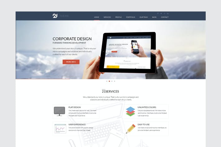 Thumbnail for 21 - Corporate & Business HTML Theme