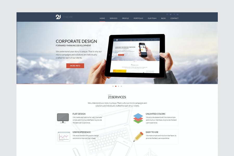 21 - Corporate & Business HTML Theme