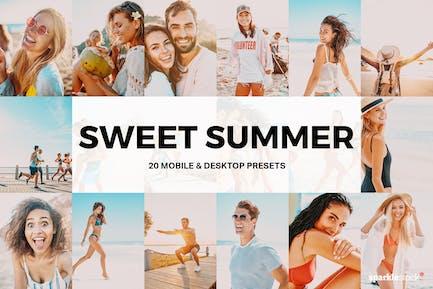 20 сладких летних Пресеты Lightroom и LUT