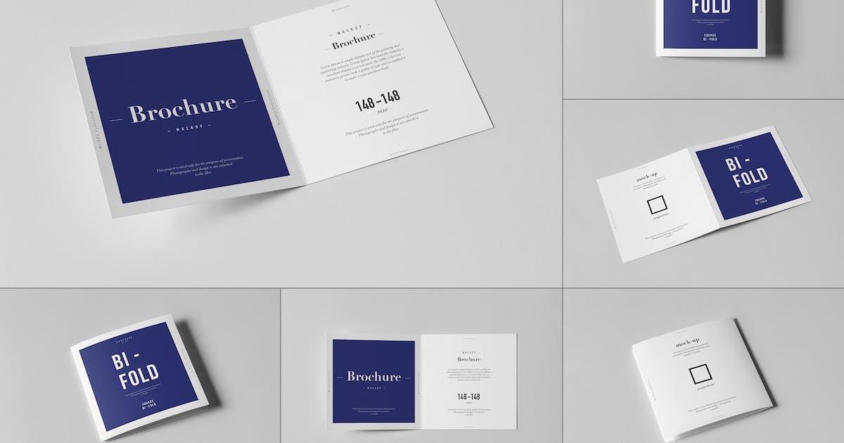 Download Bi-Fold Square Brochure Mock-up by yogurt86