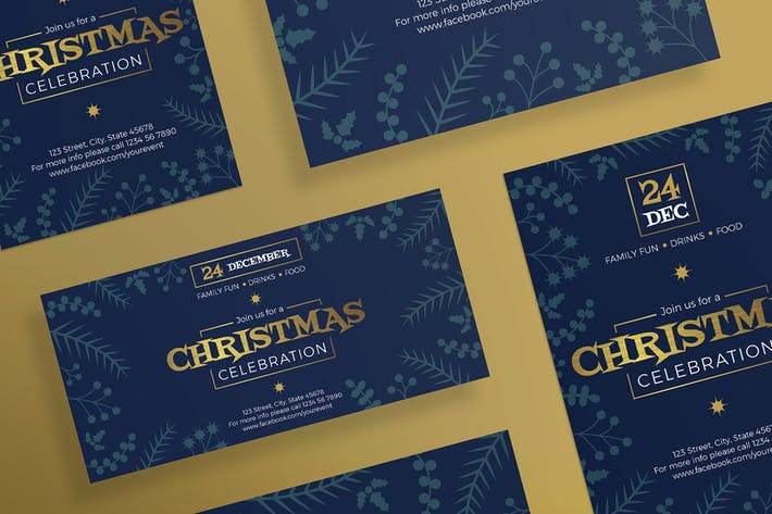 Thumbnail for Christmas Celebration Flyer and Poster Template