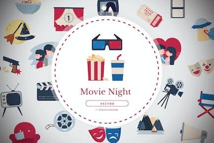 24 Movie night elements pack