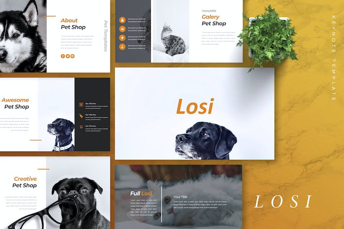 Thumbnail for LOSI - Pet Service Keynote Template