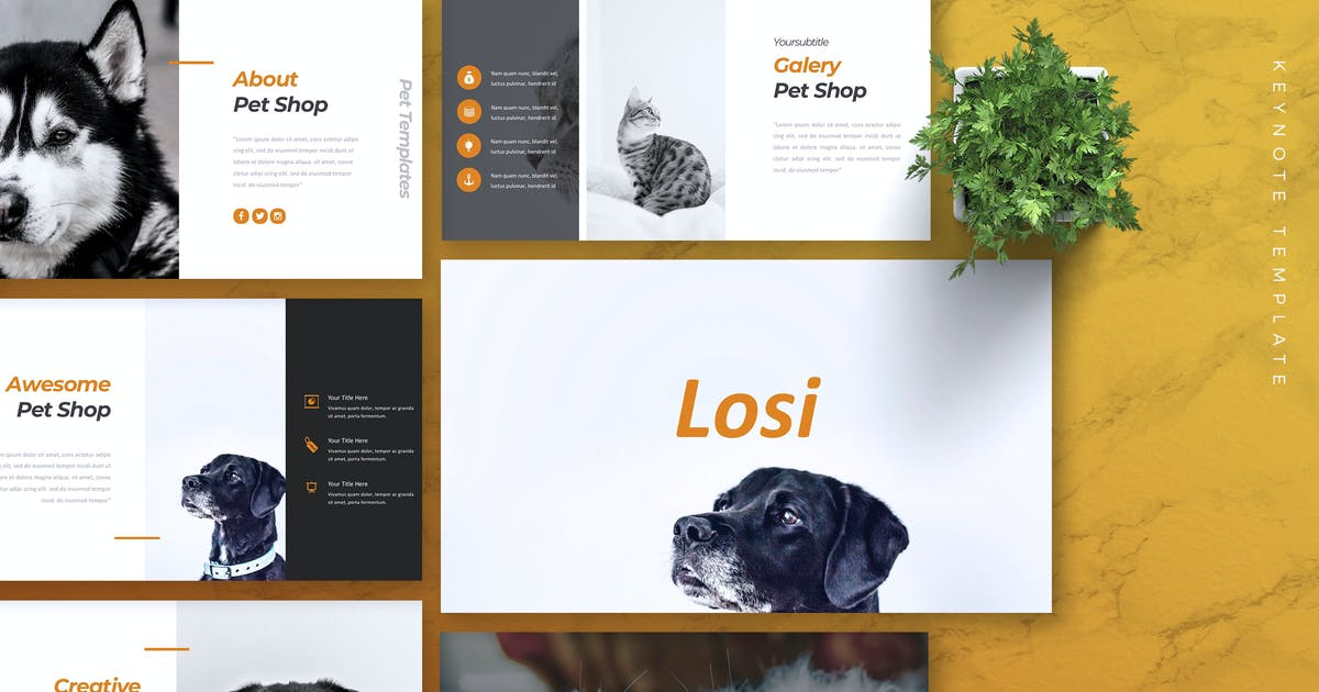 Download LOSI - Pet Service Keynote Template by RahardiCreative