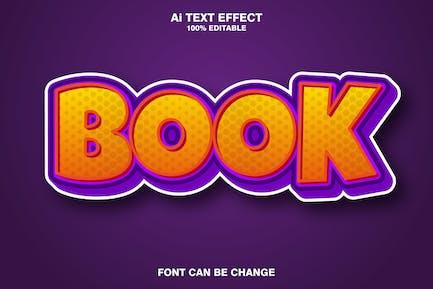 Book 3d text effect