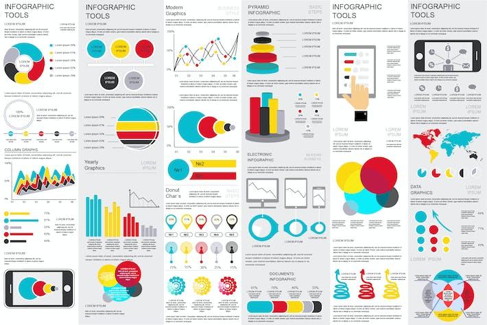 download 225 landscape infographic graphic templates