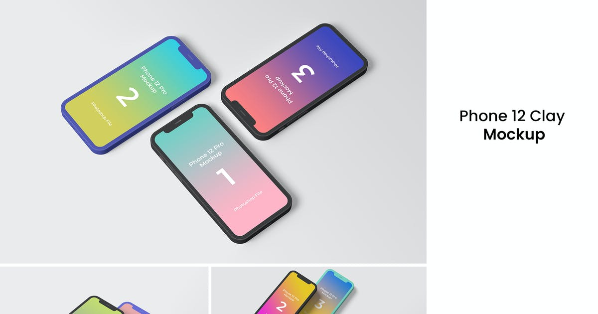 Download Phone 12 Clay Mockup by yellowgold