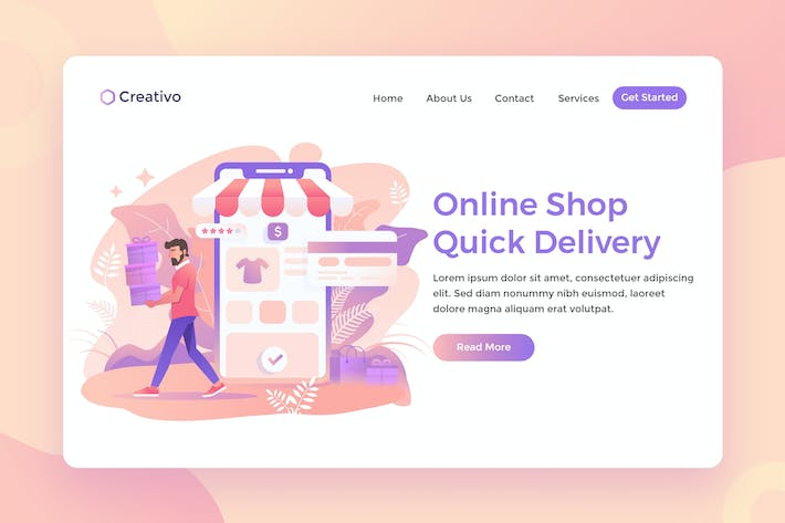 Thumbnail for Online Shopping, Fast Delivery Service Landing