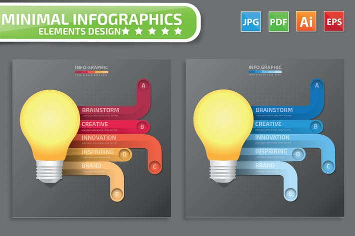 Cover Image For Idea infographic Design