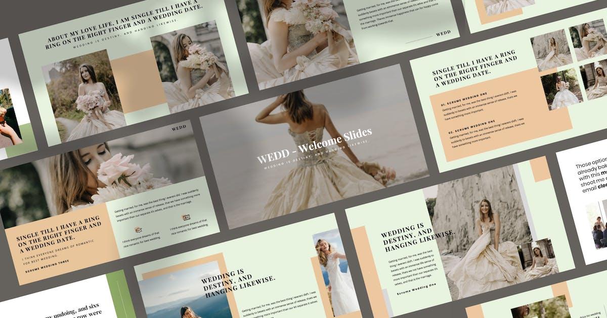 Download WEDD - Wedding Presentation Powerpoint Template by peterdraw