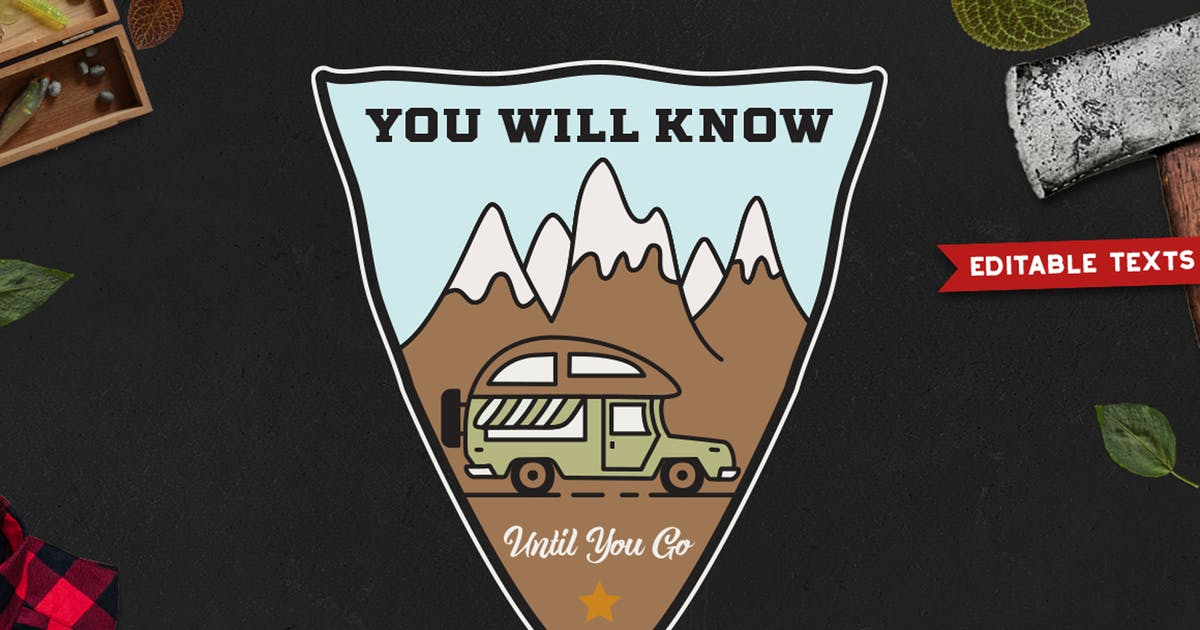 Download Road Trip Camping Badge Vector Retro Graphic Logo by JeksonJS