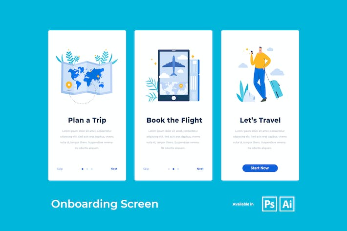 Thumbnail for Onboarding Screen for Travel App