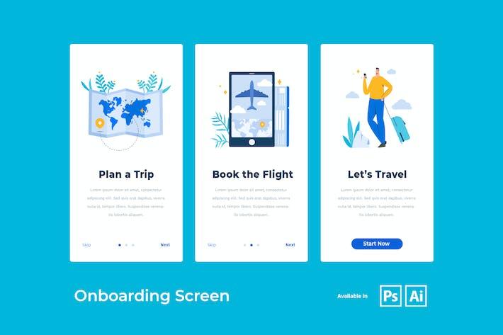 Onboarding Screen for Travel App
