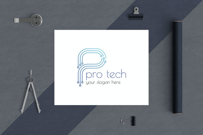 Cover Image For Letter Based Business Logo Template