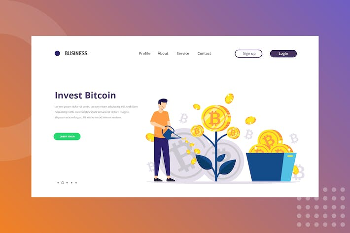 Thumbnail for Investment Bitcoin Landing Page
