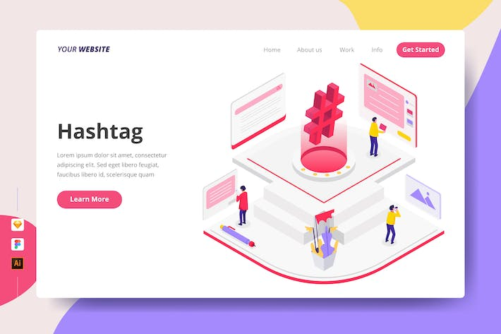 Thumbnail for Hashtag - Landing Page