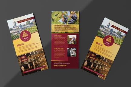 Winery/ Rack Card and Voucher Template