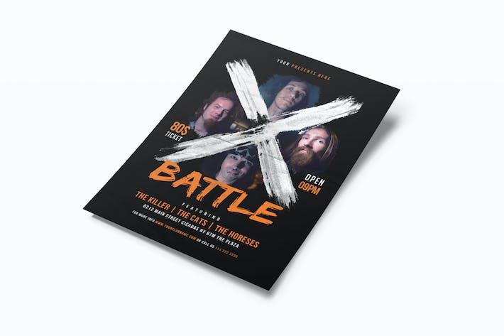 Thumbnail for X Battle Music Flyer