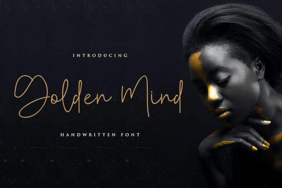 Golden Mind Font - Rantautemp