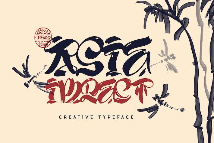 Thumbnail for Asia Impact font