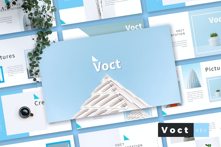 Thumbnail for VOCT - Creative Keynote Template