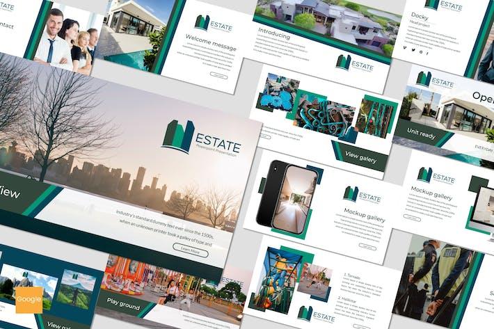 Thumbnail for Estate - Google Slides Template