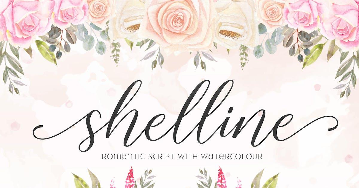 Download Shelline - Romantic Script by aditypotypea