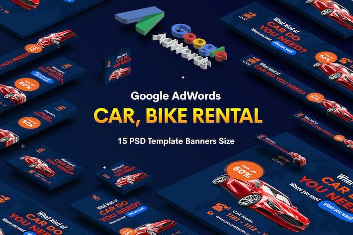 Thumbnail for Car & Bike Rental Banners Ad