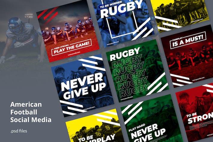 Thumbnail for Kit de médias sociaux Football américain