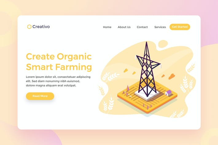 Thumbnail for Organic Smart Farming, Agriculture Tech Web Page