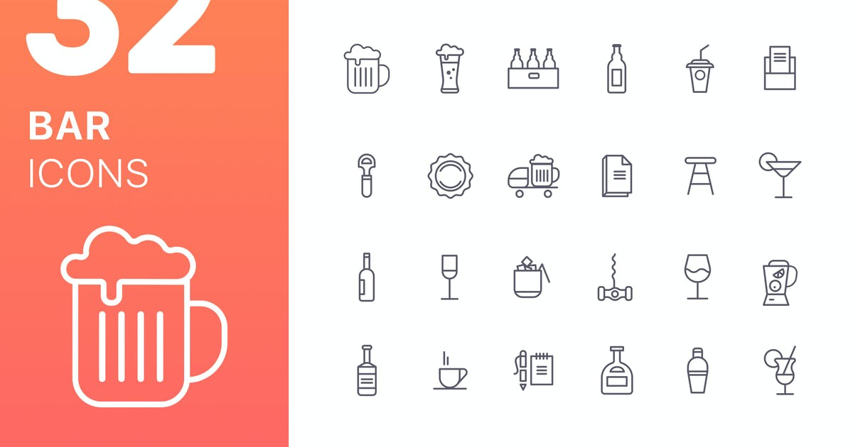 Bar Icons by spovv