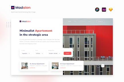 Madalen - Apartment Rental Booking Website Hero UI