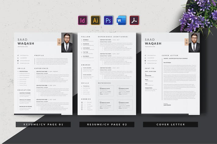 Cover Image For Clean & Minimal Resume/CV AN