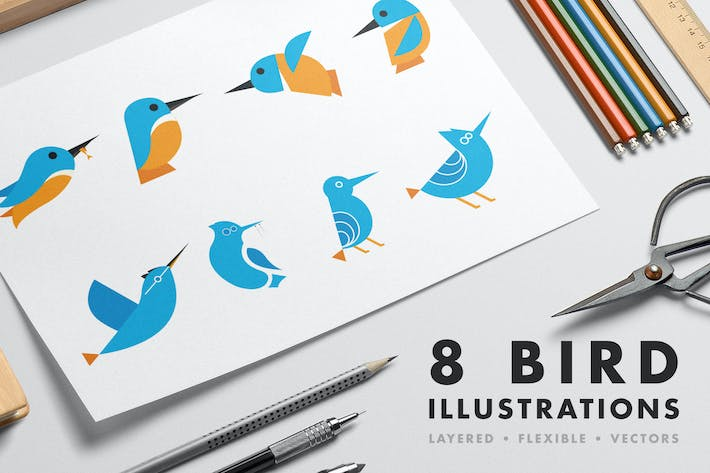 Thumbnail for 8 Bird illustrations