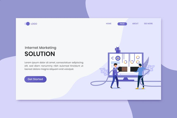 Thumbnail for Solutions Marketing  Landing Page