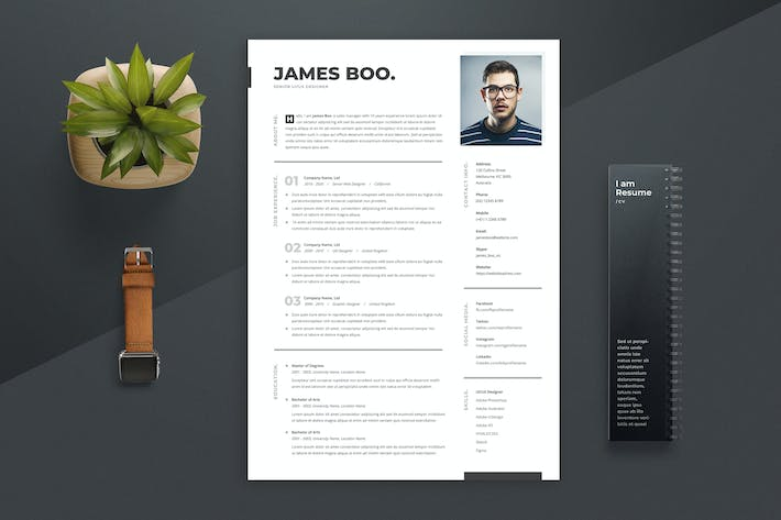 Thumbnail for Resume / CV Template 04