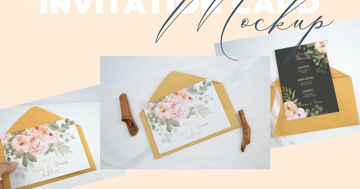 Download Realistic Wedding Invitation Card Mockup V2 by afahmy