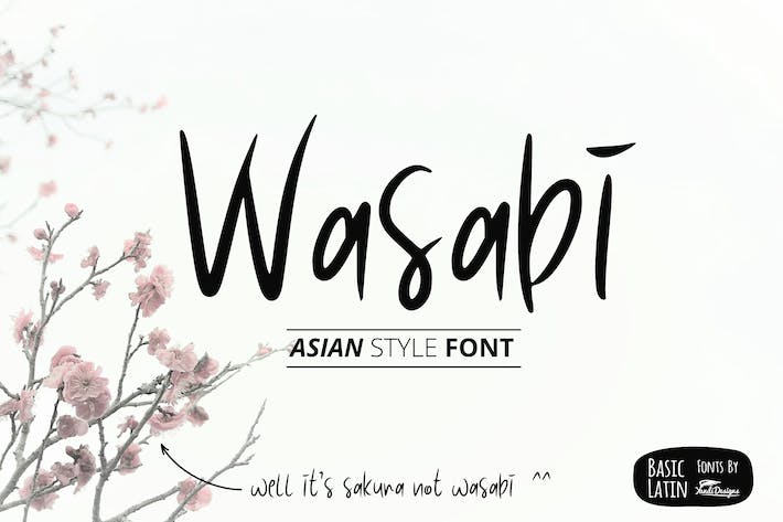Thumbnail for Wasabi Asian Style Font