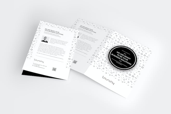 Thumbnail for Minimal A4 / A5 Bifold Brochure