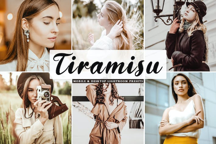 Thumbnail for Tiramisu Mobile & Desktop Lightroom Presets