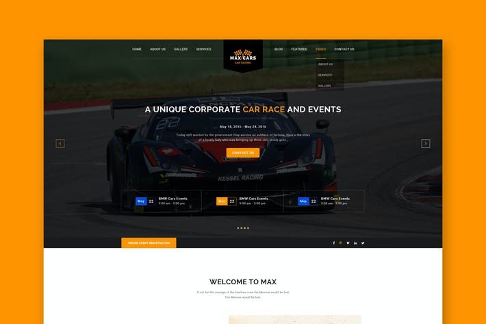 Thumbnail for Car Race PSD Template