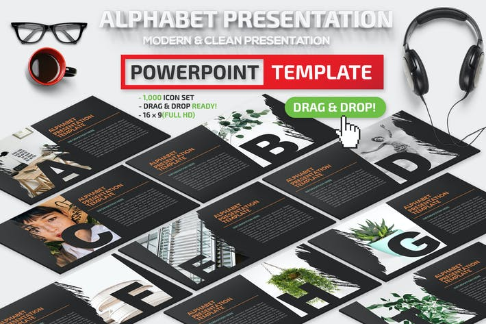 Thumbnail for Alphabet Powerpoint Presentation Template
