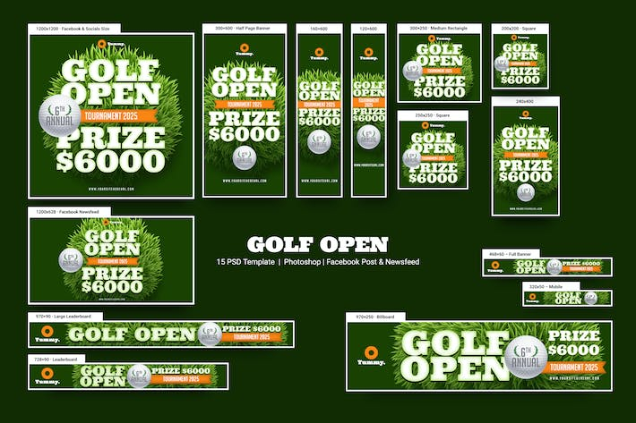 Thumbnail for Golf Open Banners Ad