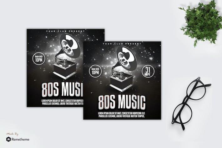 80s Music - Flyer MR