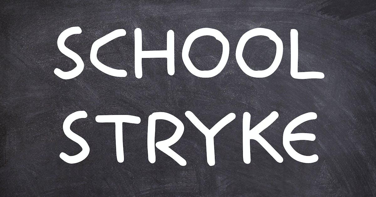 School Stryke - Handwritten font by Muse-Master