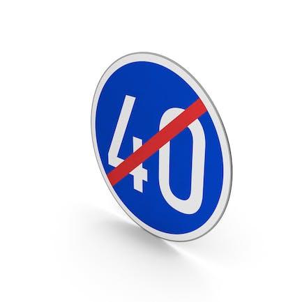Road Sign End Minimum Speed Limit 40