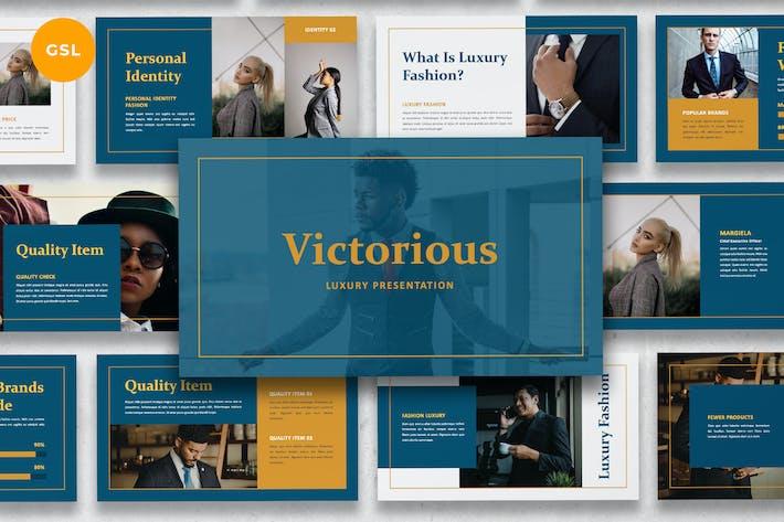 Thumbnail for Victorious - Luxury Suit Google Slides